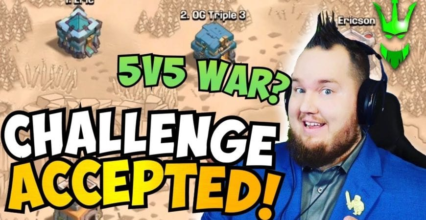 SHOULD WE GO EASY ON HIM?! Clash Bashing Challenged ME to a WAR!! Clash of Clans by Clash with Eric – OneHive