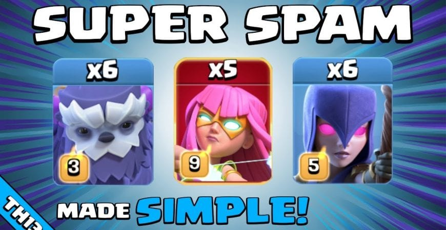 THIS IS HOW YOU USE SUPER ARCHERS FOR 3 STARS! TH13 Attack Strategy | Clash of Clans by Sir Moose Gaming