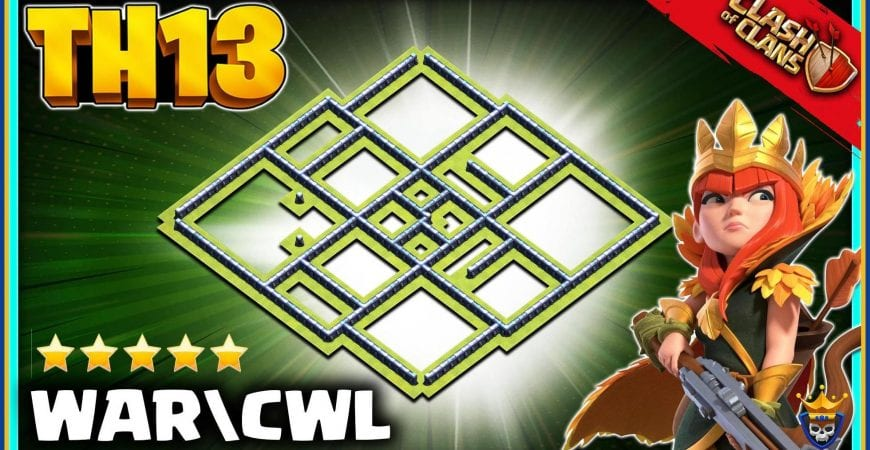 Best TH13 WAR BASE 2021 (ANTI 3) + Th13 Legend League Base with Link by @KagzGaming
