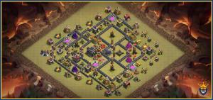 Town Hall 9 Base For Farming and war