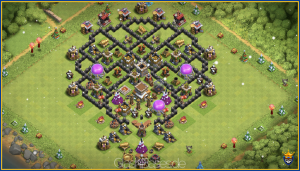 Town Hall 8 Trophy and Farming Base.