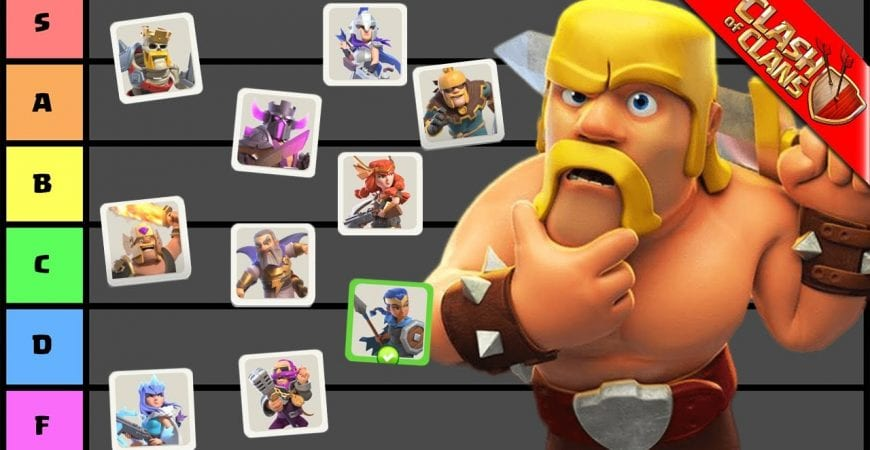 RANKING EVERY HERO SKIN IN CLASH OF CLANS! by Clash Bashing!!