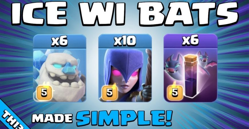 ICE GOLEMS + WITCHES + BATS = SO EASY! TH13 Attack Strategy | Clash of Clans by Sir Moose Gaming