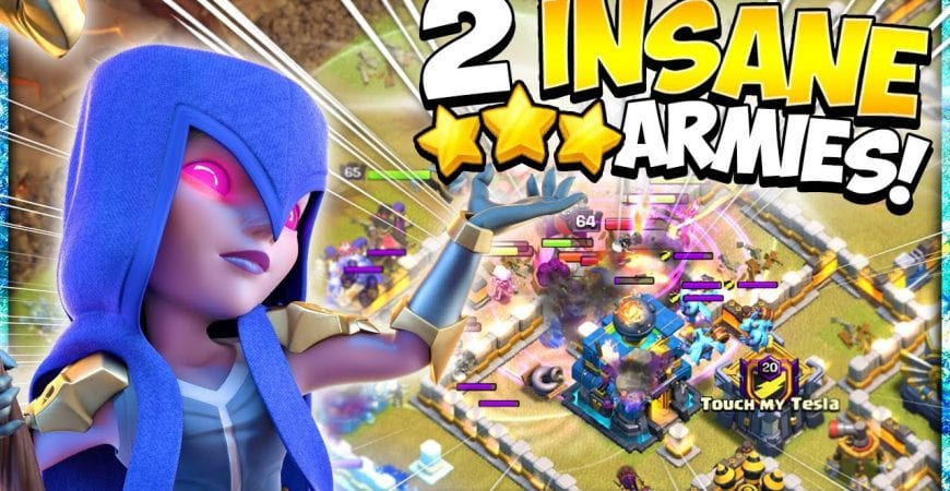 2 Unstoppable Armies for Easy 3 Stars! The Best TH12 Attack Strategies for War in Clash of Clans by Kenny Jo