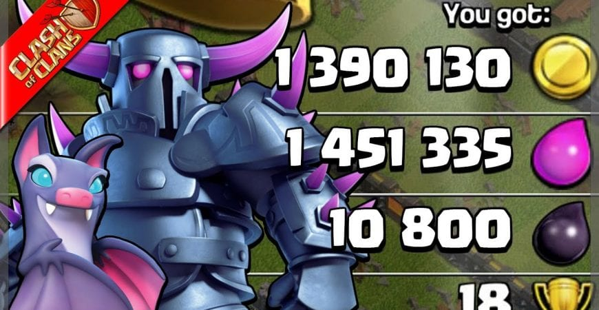 One of the BIGGEST RAIDS I have EVER found with Pekka BoBat! – Clash of Clans by Clash Bashing!!