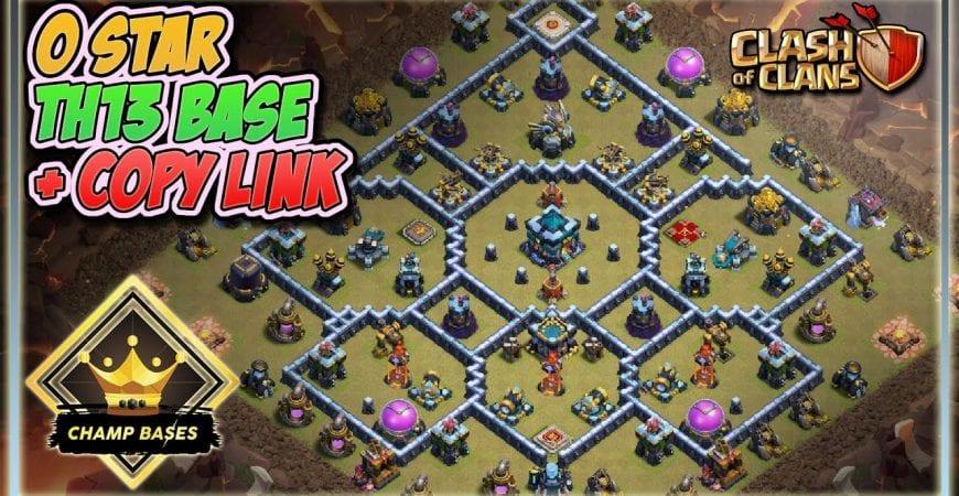 Champ Bases 0 STAR BASE! | Custom TH13 Legend League/CWL Base + COPY LINK! by GazTommo