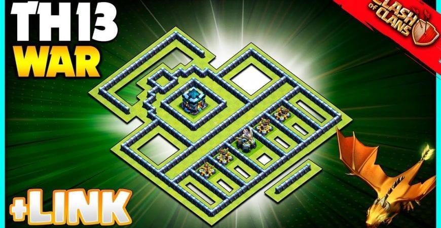 TH13 War Base Link 2021 – Clash of Clans Base th 13 by @KagzGaming