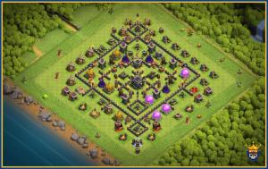 War and trophy base for th9