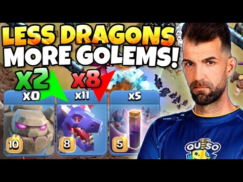 OSKIVM uses 2 GOLEMS in his DRAGBAT! 8 DRAGONS enough to TRIPLE?! Clash of Clans eSports! by Clash with Eric – OneHive