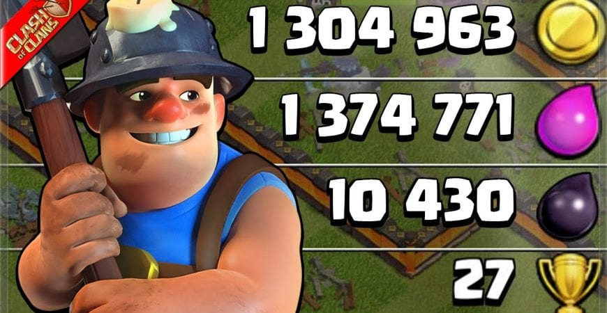 Pro Miner Farming for CRAZY LOOT! (Clash of Clans) by Clash Bashing!!