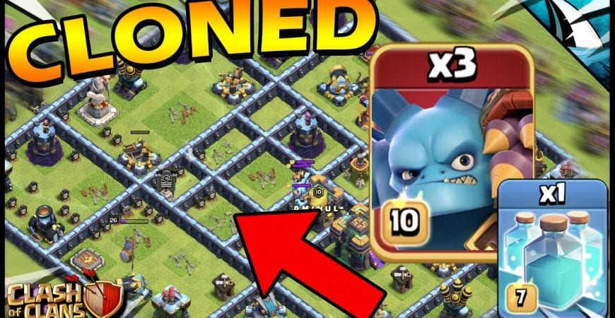 CLONED Super Minions DESTORYED THIS in Clash of Clans!! by CarbonFin Gaming