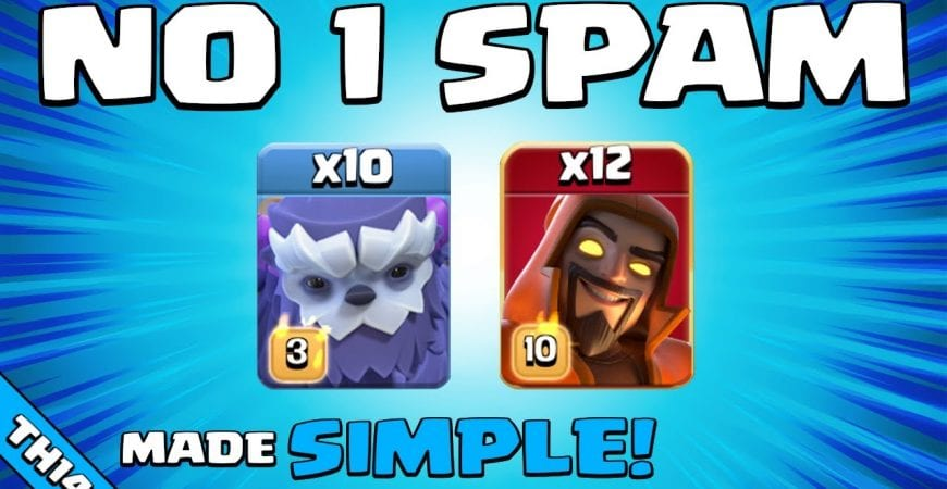 RANKED TOP 5 (GB) WITH THIS EASY SPAM ATTACK!!! NEW TH14 Attack Strategy | Clash of Clans by Sir Moose Gaming