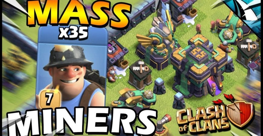 MASS Miners at Town Hall 14 in Clash of Clans! by CarbonFin Gaming