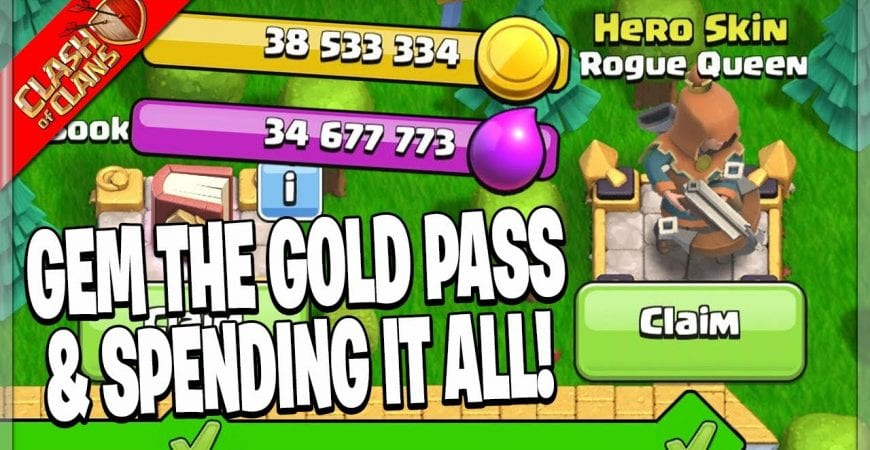 FEBUARY GOLD PASS REVIEW & SPENDING SPREE! – Clash of Clans by Clash Bashing!!