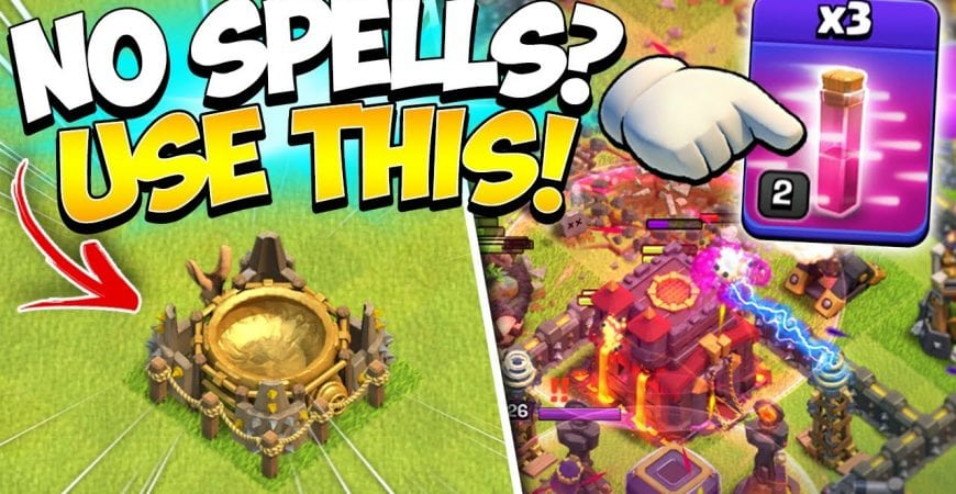 Proof No Spell TH10 Goblin Knife is OP! No Spell Factory Farming in Clash of Clans by Kenny Jo
