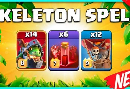 TH14 Attack Strategy 2021 | The Inferno Dragon with Skeleton Spells! | Th 14 Attack | Clash of Clans by KagZ Gaming