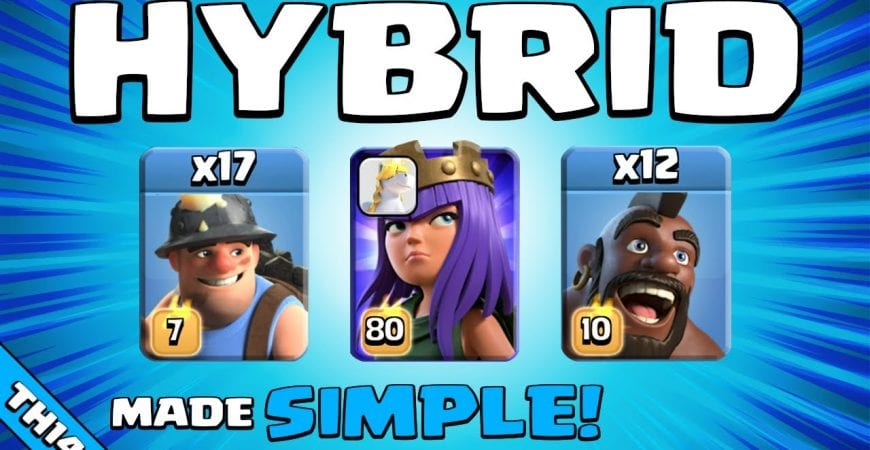 HOG MINER HYBRID MADE EASY(ISH) | TH14 Attack Strategy | Clash of Clans by Sir Moose Gaming
