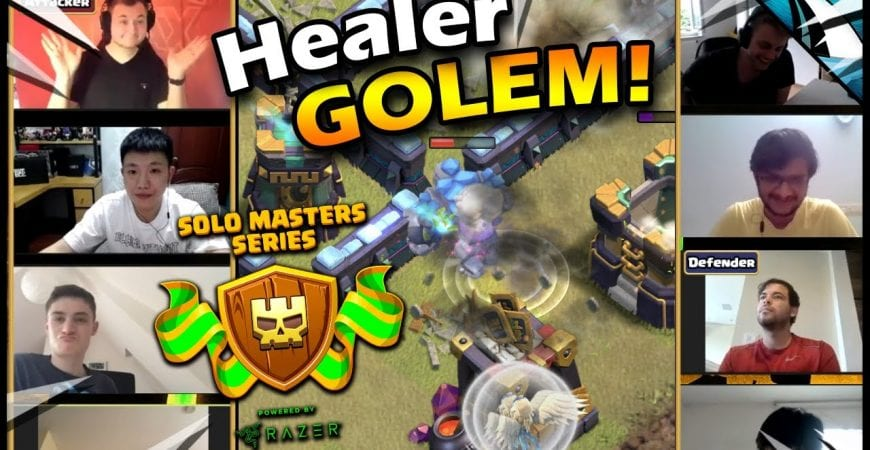 *New* Healer Golem Attack Strategy?!? Vale Breaks Clash!! by CarbonFin Gaming