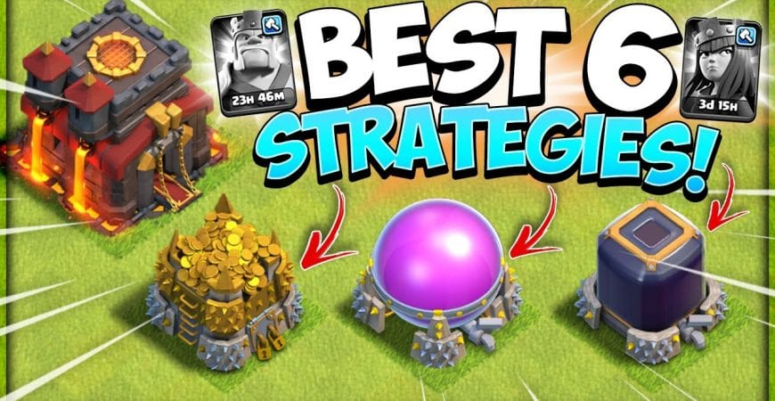 Top 6 TH10 Farming Strategy Without Heroes! East Loot Farming (Clash of Clans) by Kenny Jo