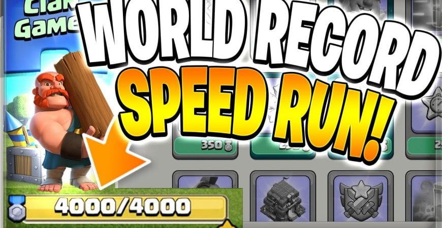 NEW Clan Games Speed Run WORLD RECORD?! (Clash of Clans) by Clash Bashing!!