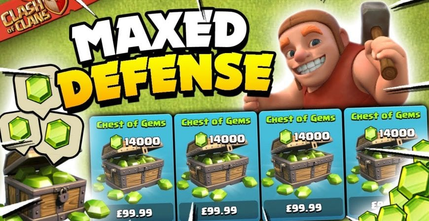 I Spent $… to Max My Defenses in Clash of Clans! by Judo Sloth Gaming