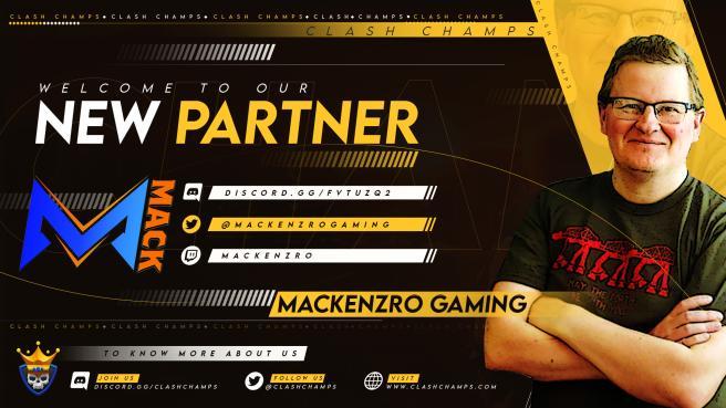 Mackenzro Gaming X Clash Champs Partnership