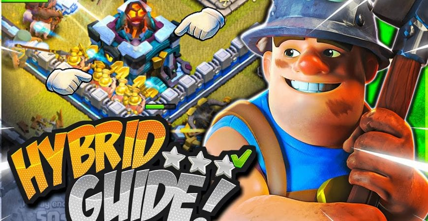 How to Use Th13 Hybrid Attack Strategy for 3 stars! (Clash of Clans) by CorruptYT