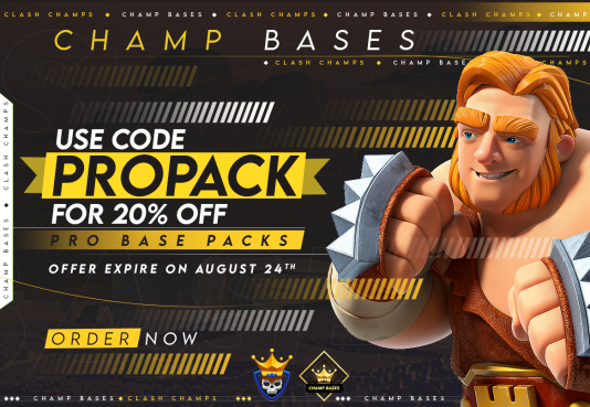 20% Off ALL August Pro Base Packs!