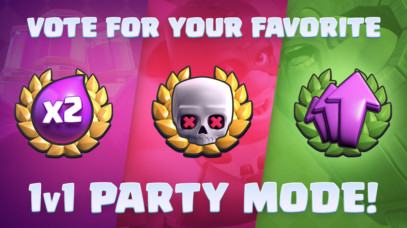 Classic 1v1 Party Vote is Live by Clash Royale