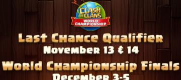Last Chance Qualifier and World Championship 2021 Finals Schedule