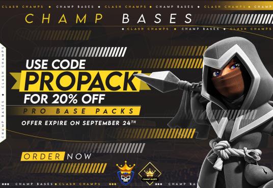 20% off ALL September Pro Base Packs