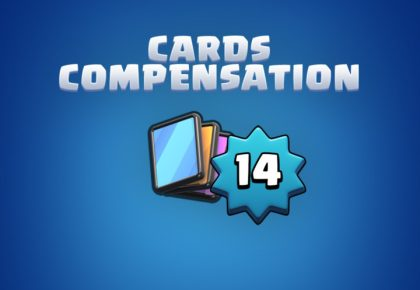 King Level 14 Cards Compensation by Clash Royale