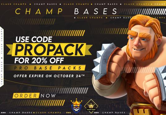 20% off ALL October Pro Base Packs