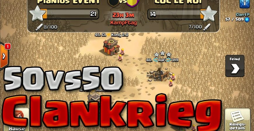 50vs50 Clankrieg – LIVE Hits + Wir suchen NEUE MEMBER by Noobs iMTV – Clash of Clans