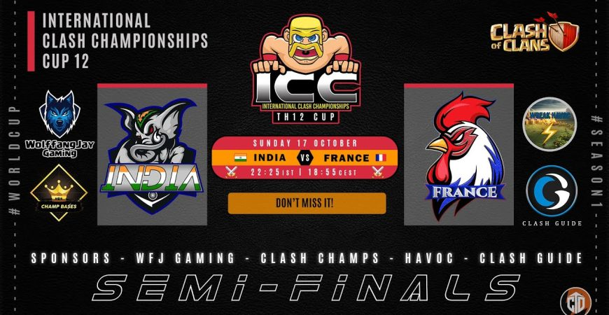 ⚔️ 🇮🇳 India vs France 🇫🇷 ⚔️ | Semi-Final | 🏆 ICC Cup 12 🏆 | ❗icc 💯📣 by WolffangJay