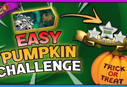 EASY Pumpkin Graveyard Challenge 3 Star | Clash of Clans by Gaz Tommo