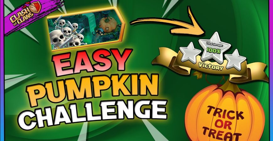 EASY Pumpkin Graveyard Challenge 3 Star   Clash of Clans by Gaz Tommo