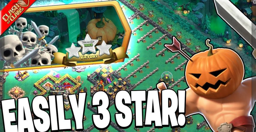 EASILY BEAT THE PUMPKIN GRAVEYARD CHALLENGE IN CLASH OF CLANS! by Clash Bashing!!