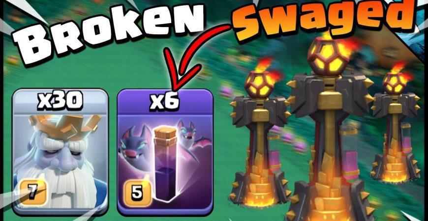 So BROKEN Swaged all the Bat Spells vs Multi Infernos!! by CarbonFin Gaming