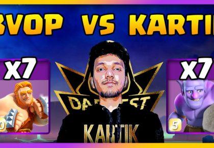 BVOP vs Kartik 08 in a Clash of Clans BO3 1v1!! by Big Vale